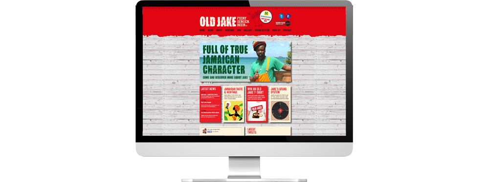 old jake ginger beer home page