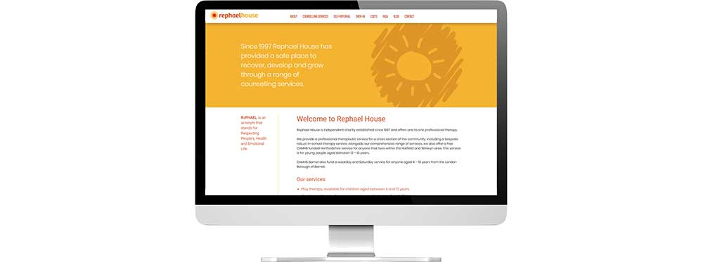 Website design and development desktop view