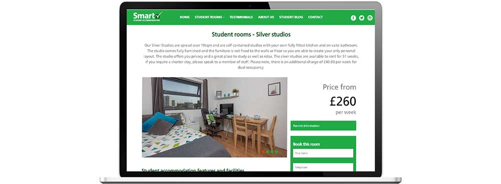 Smart Student Accommodation information page