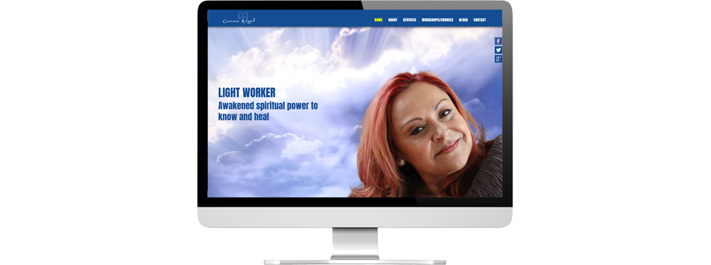 Connie Angel website on desktop device