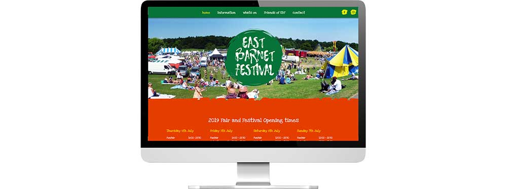 EBF website showing on desktop