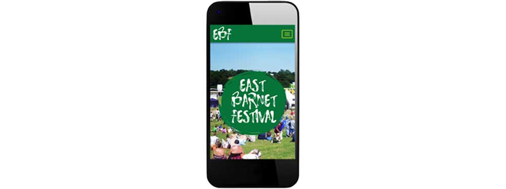 EBF website showing on smart phone