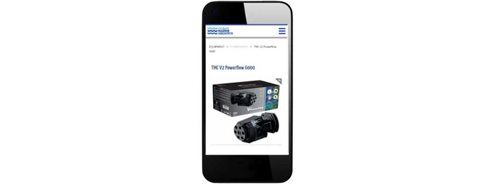 website design on phone