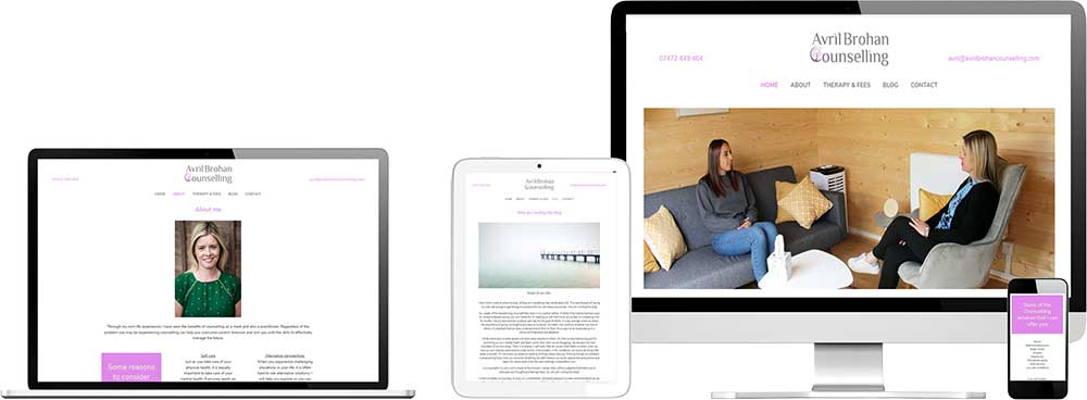 Branding and website case study for London based therapist Website Snap