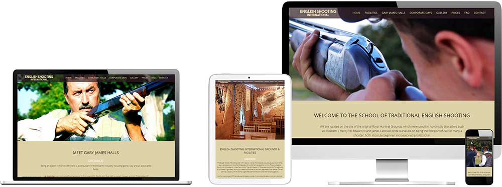 Website case study for Clay Pigeon Shooting Club Website Snap