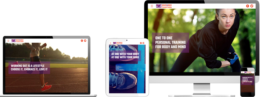 Website case study for personal trainer London Website Snap