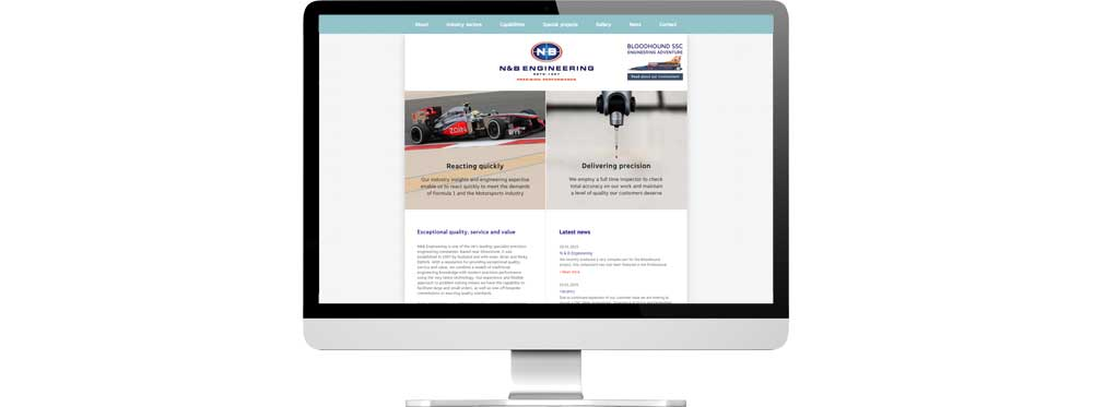Website case study for engineering company Website Snap