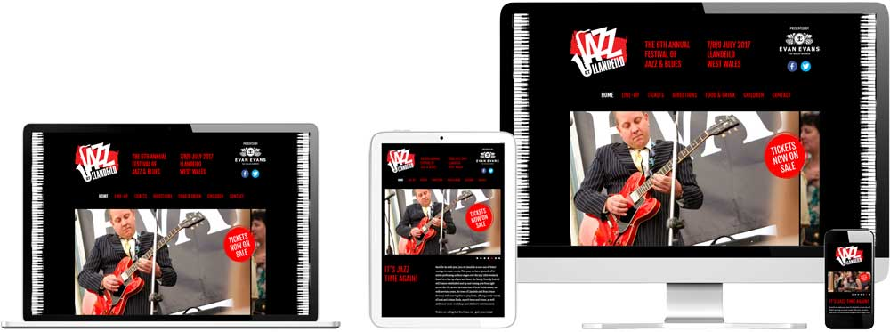 Website case study for Jazz Music Festival Website Snap