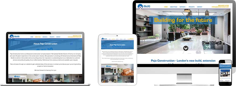 Website case study for London construction company Website Snap