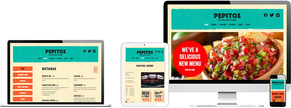 Website case study for Mexican restaurant Website Snap