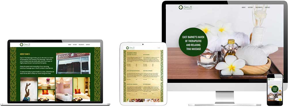 Website case study for Thai Massage Spa company Website Snap