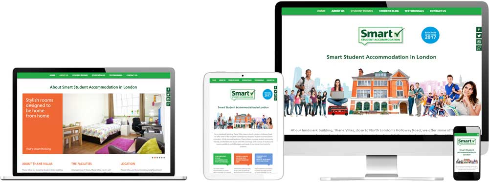 Website case study for student accommodation business Website Snap
