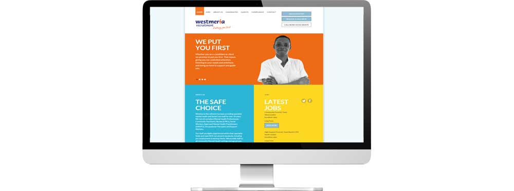 Website case study for recruitment company Website Snap